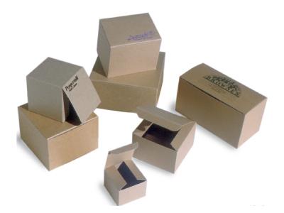 Natural Kraft Groove Gift Box - 2x2x2