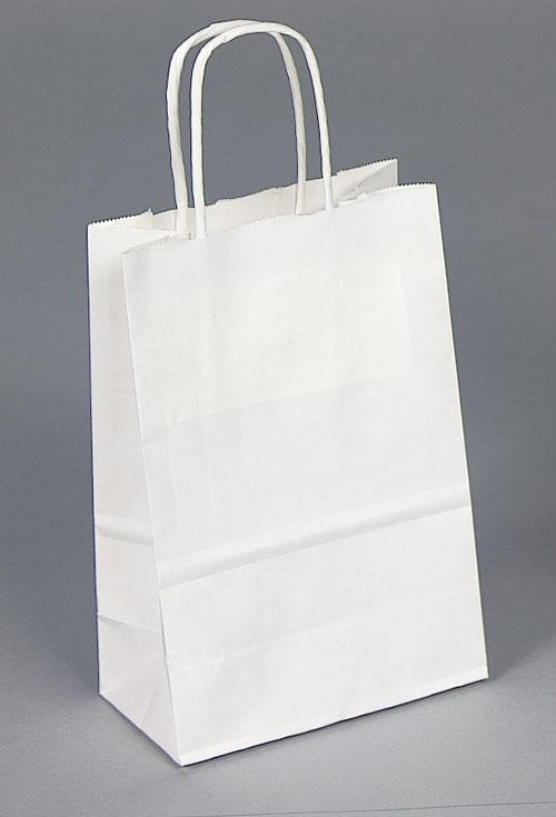 Kraft Shopping Bag White - 5.5x3.25x8.75