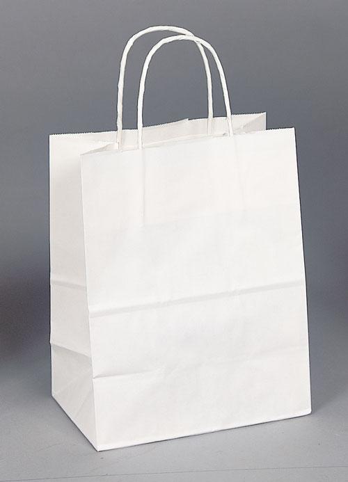 Kraft Shopping Bag White - 8x4.75x10.25