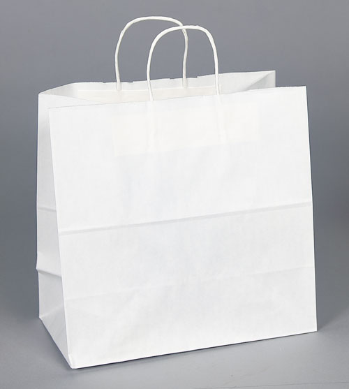 Kraft Shopping Bag White - 10x5x10