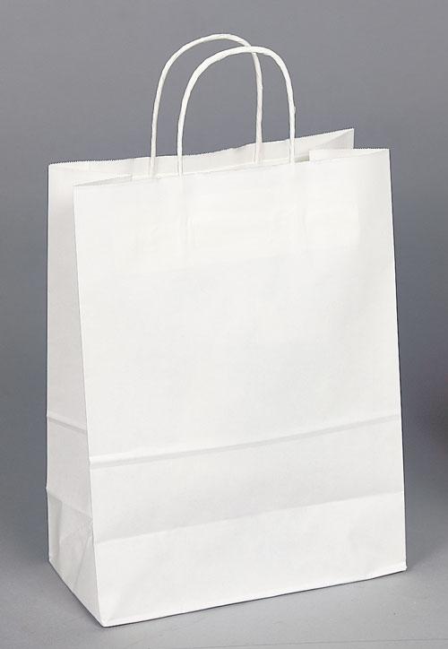 Kraft Shopping Bag White - 10x5x13