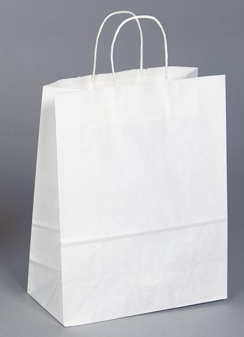 Kraft Shopping Bag White - 13x7x13
