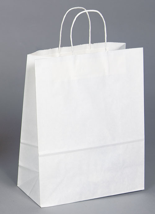 Kraft Shopping Bag White - 13x6x16