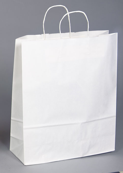 Kraft Shopping Bag White - 13x7x17