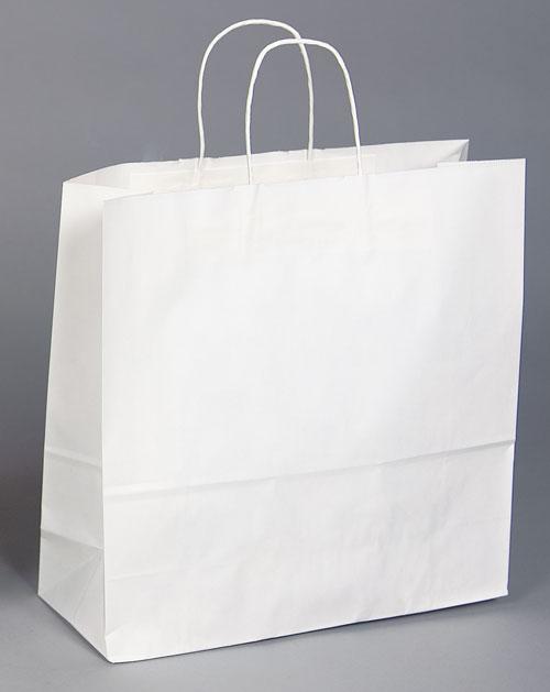 Kraft Shopping Bag White - 16x6x16