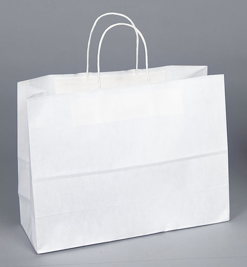 Kraft Shopping Bag White - 16x6x12
