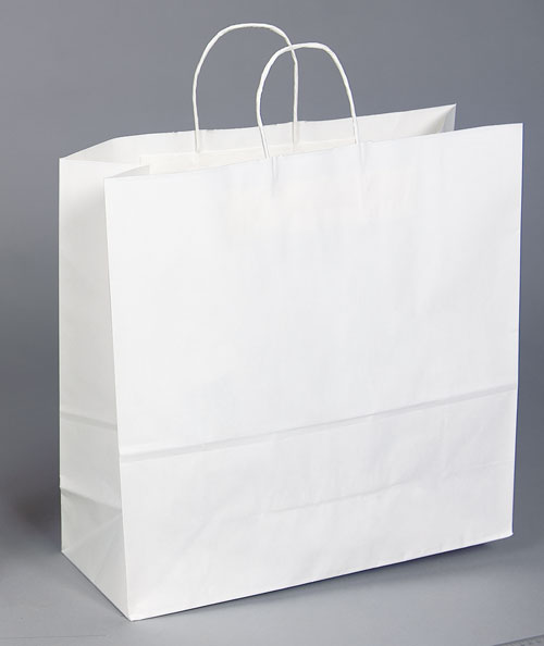 Kraft Shopping Bag White - 16x6x19