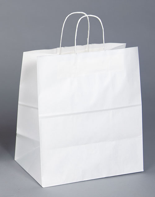 Kraft Shopping Bag White - 14.5x9x16