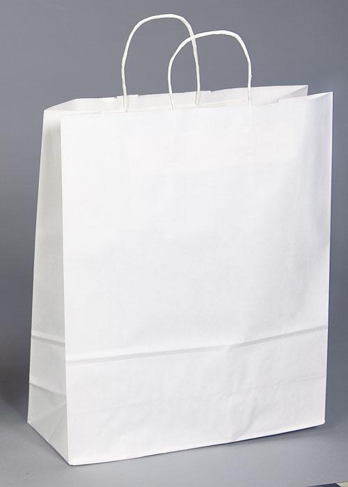 Kraft Shopping Bag White - 18x7x18